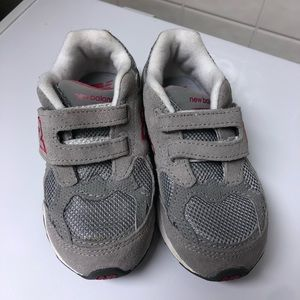 New balance toddler size 9 grey and pink